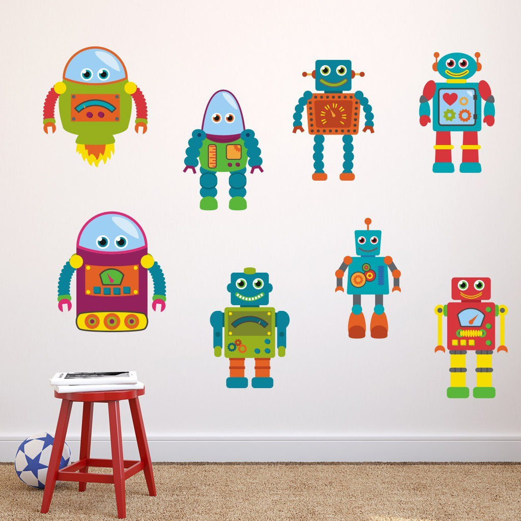 Robot wall stickers mirrorin robot wall stickers amipublicfo Gallery