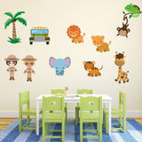 Safari Scene With Animals Wall Art
