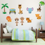 Safari Scene With Animals Wall Decals