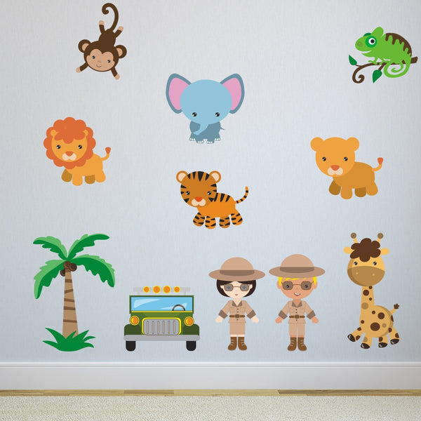 Safari Scene With Animals Wall Sticker