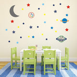 Stars and Planets In Space Wall Decal