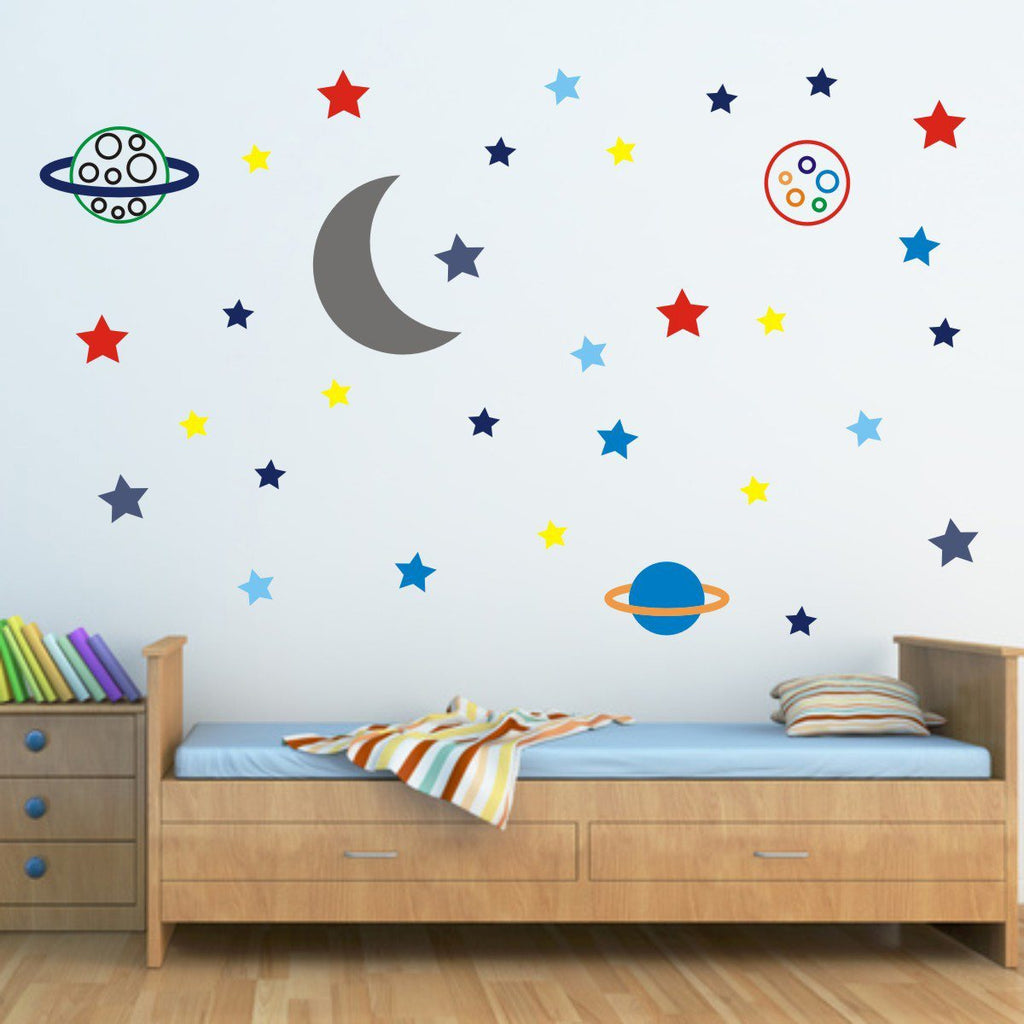 Stars and Planets In Space Wall Sticker