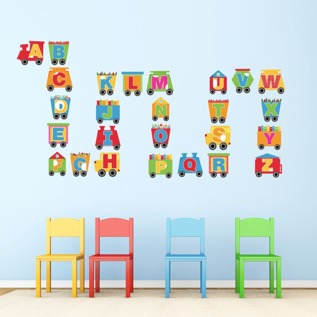 Alphabet Train Wall Stickers