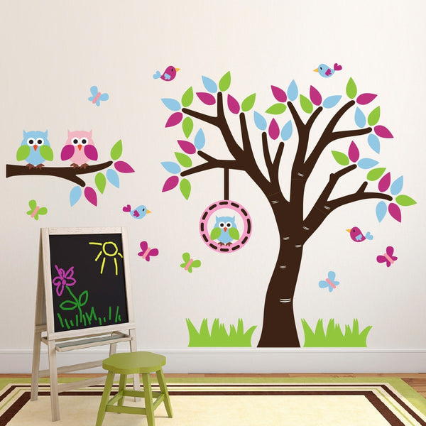 Tree and Branch With Owls Wall Sticker