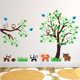 Tree and Branch With Woodland Animals Wall Art