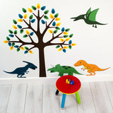 Tree With Dinosaurs Wall Art