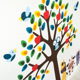 Tree With Farmyard Animals Wall Art Sticker