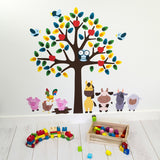 Tree With Farmyard Animals Wall Art