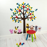 Tree With Farmyard Animals Wall Transfer