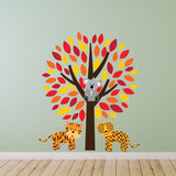 Tree With Wild Animals Wall Decal