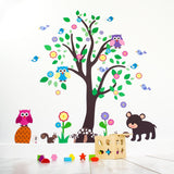 Tree With Woodland Animals Wall Decal