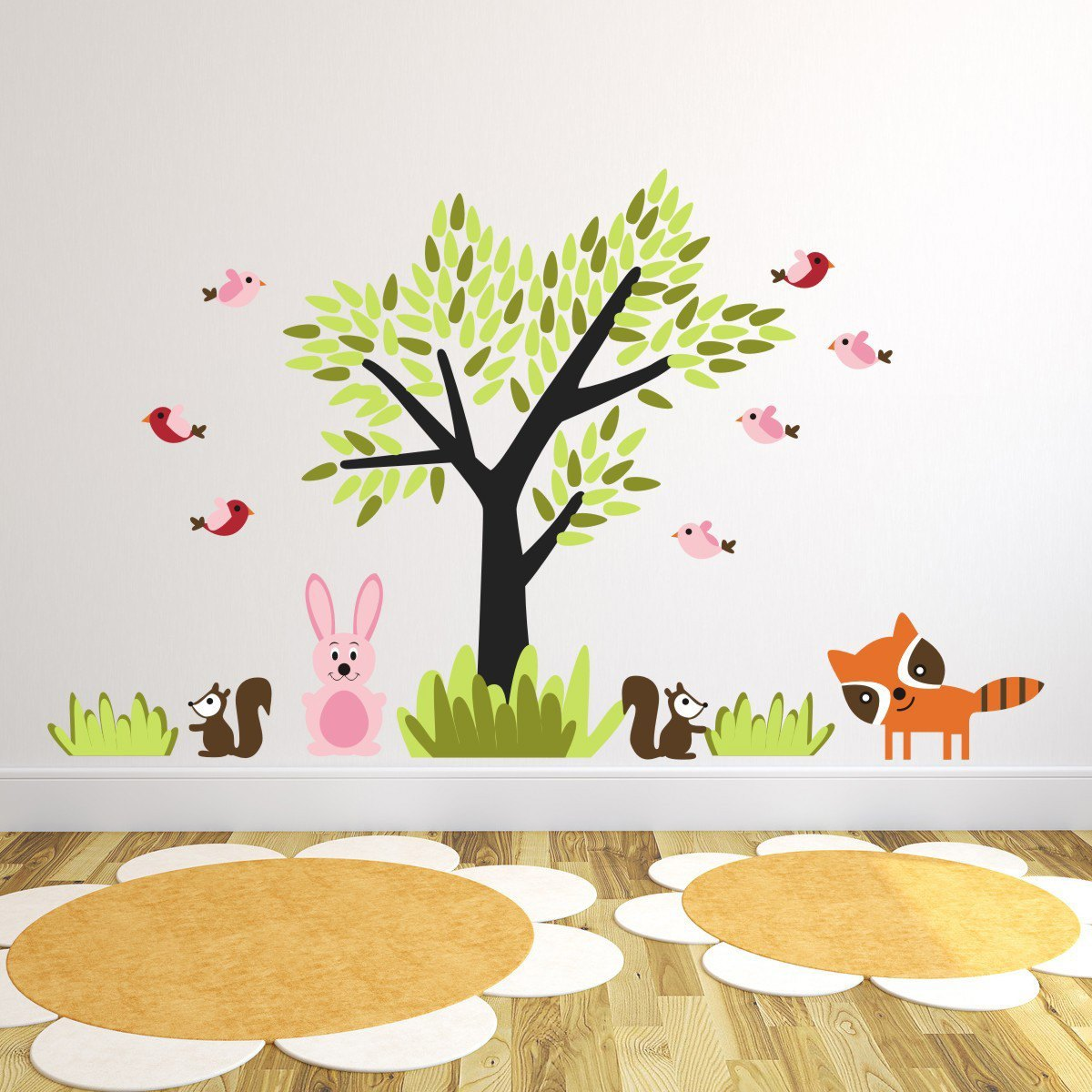 Tree With Forest Animals Wall Sticker