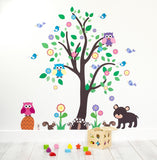Tree With Woodland Animals Wall Sticker