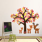 Tree With Woodland Deer Wall Sticker