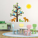 Wild Animals and Tree Wall Art