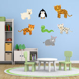 Wild Jungle Animals Wall Art Pack