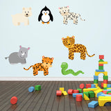Wild Jungle Animals Wall Decals Pack