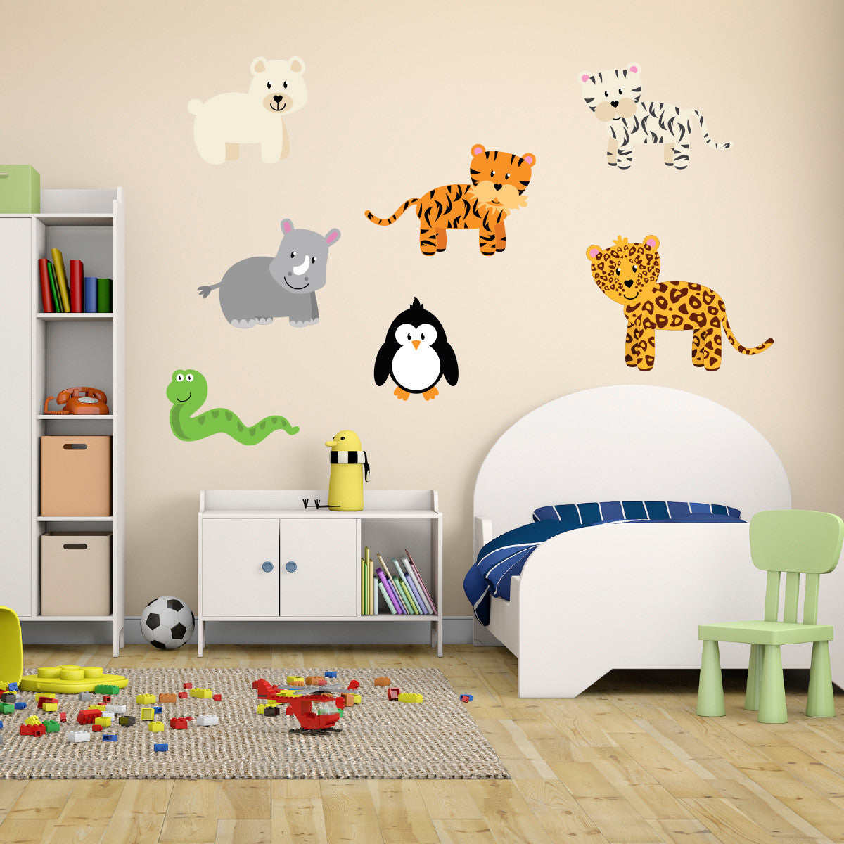 Wild Jungle Animals Wall Stickers Pack