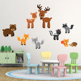 Woodland Animals Wall Decals Pack