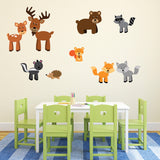 Woodland Animals Wall Stickers Pack