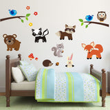 Woodland Nursery Animal Wall Art