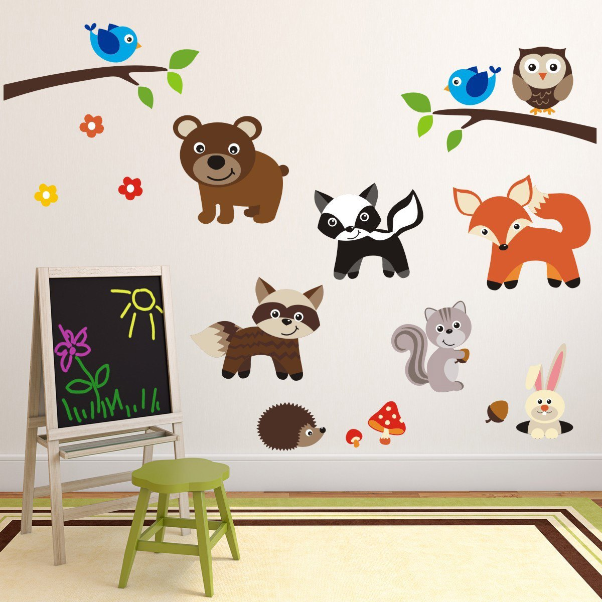 Woodland Nursery Animal Wall Stickers