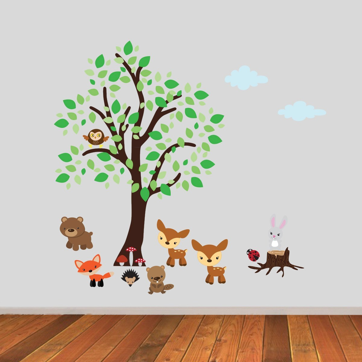 Woodland Nursery Tree Wall Sticker