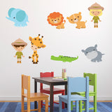Zoo Animal Wall Decals Pack