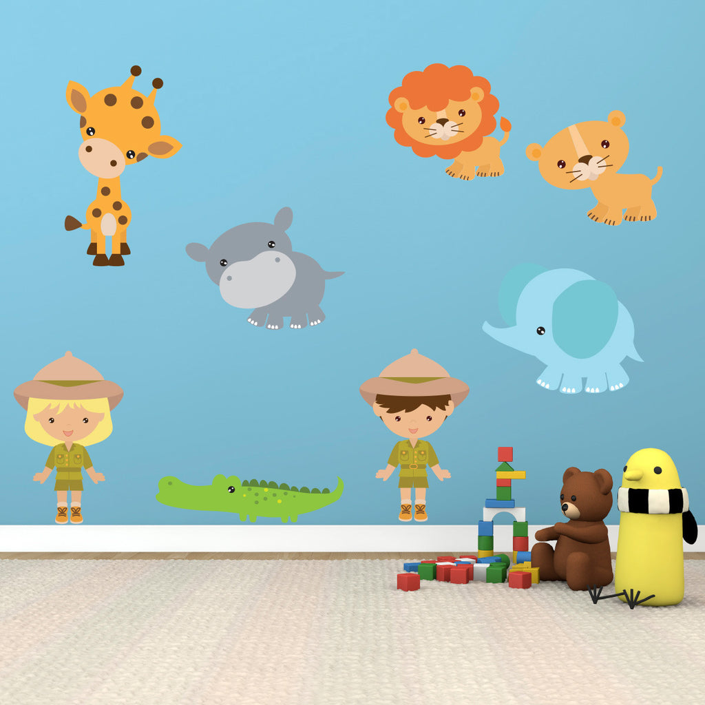 Zoo Animal Wall Stickers Pack