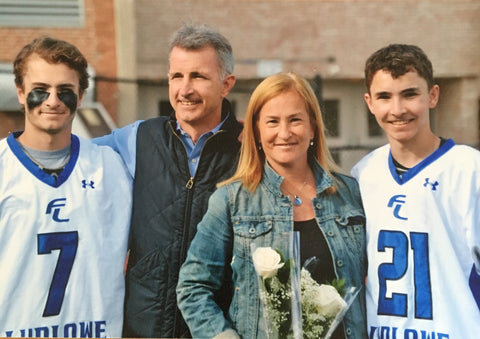 Fairfield Ludlowe Lacrosse Senior Night. The third one plays rugby.