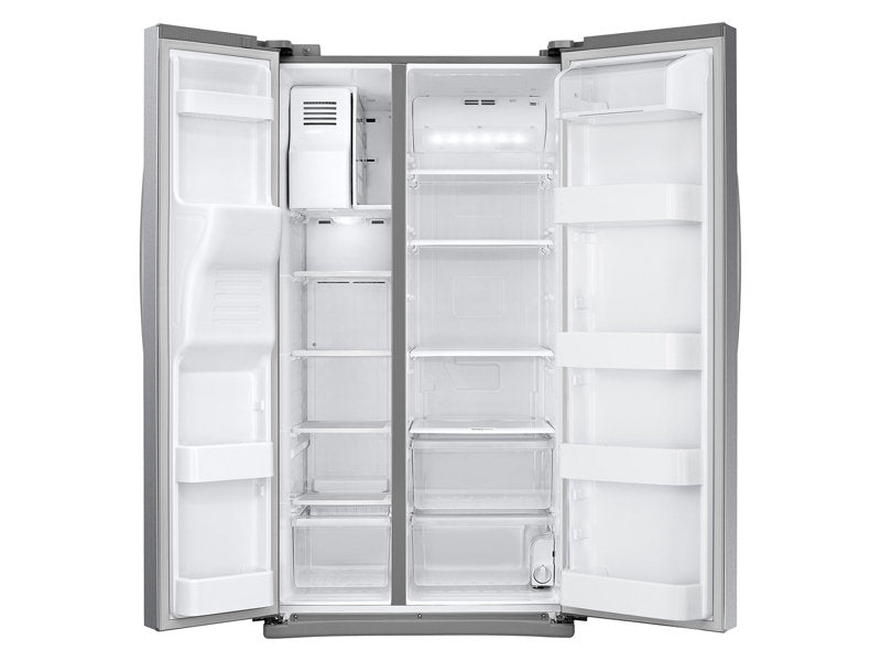 Samsung 25 Cu. Ft. Side-by-Side Refrigerator with LED Lighting