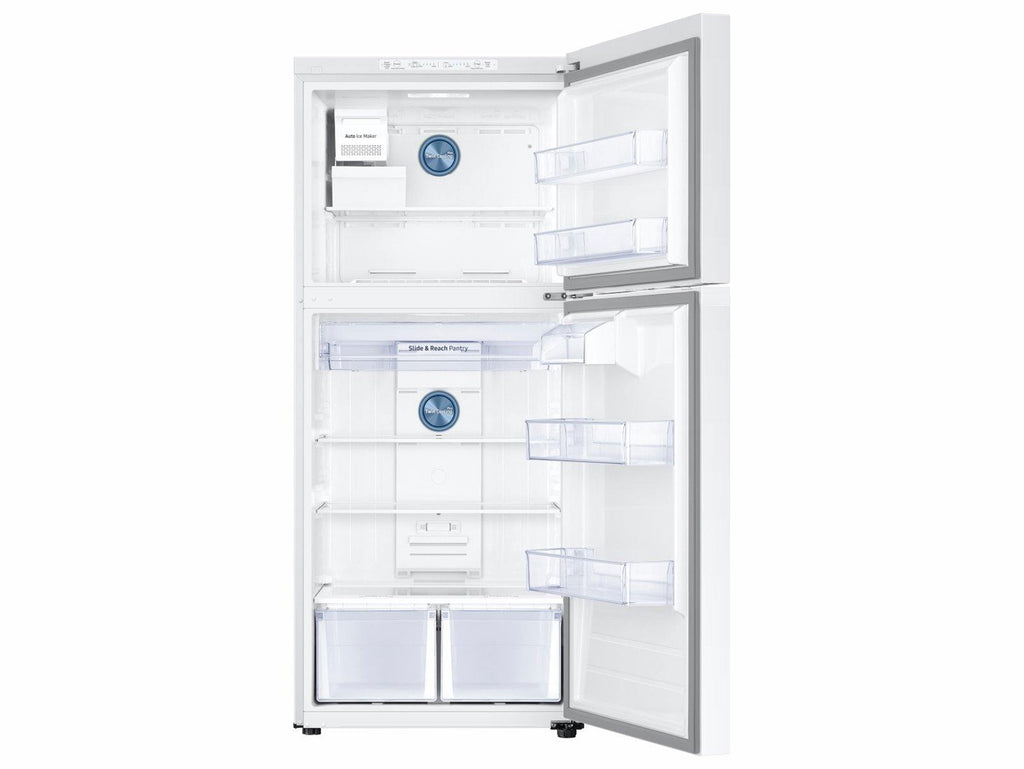 Samsung 18 cu. ft. Top Freezer Refrigerator with FlexZone™ and Ice Maker in White