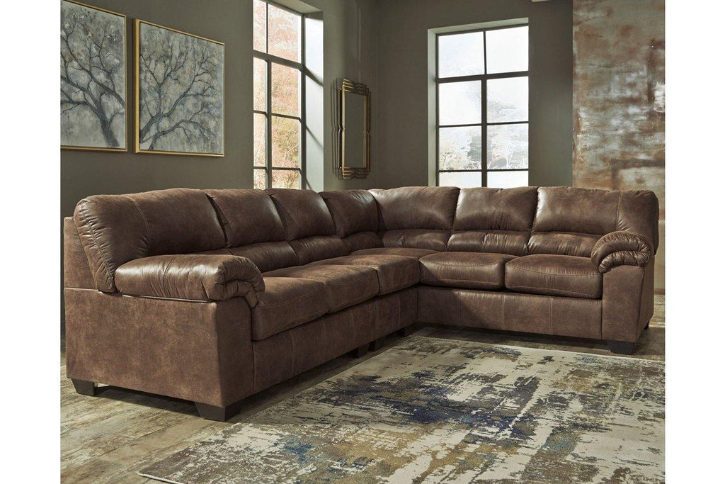 Ashley Bladen 3-Piece Sectional Sofa in Coffee