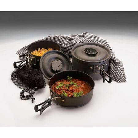 Texsport Scouter Hard-Anodized Cookware Set