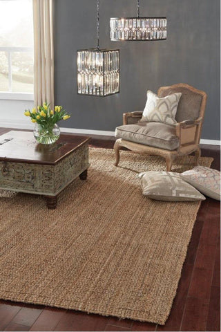 Chunky Loop Natural 8x10 Rug