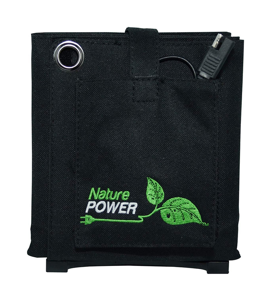 Nature Power 18-Watt Folding Solar Panel with 8-Amp Controller