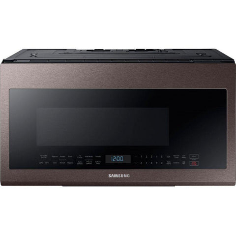 Samsung 2.1 Cu. Ft. Over-the-Range Microwave in Fingerprint-Resistant Tuscan Stainless Steel