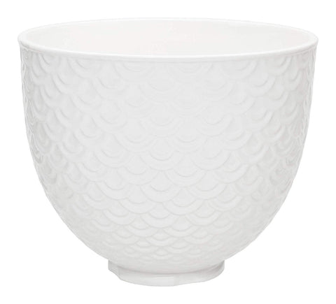 KitchenAid® Ceramic 5-Qt. Mixer Bowl in White Mermaid Lace Pattern