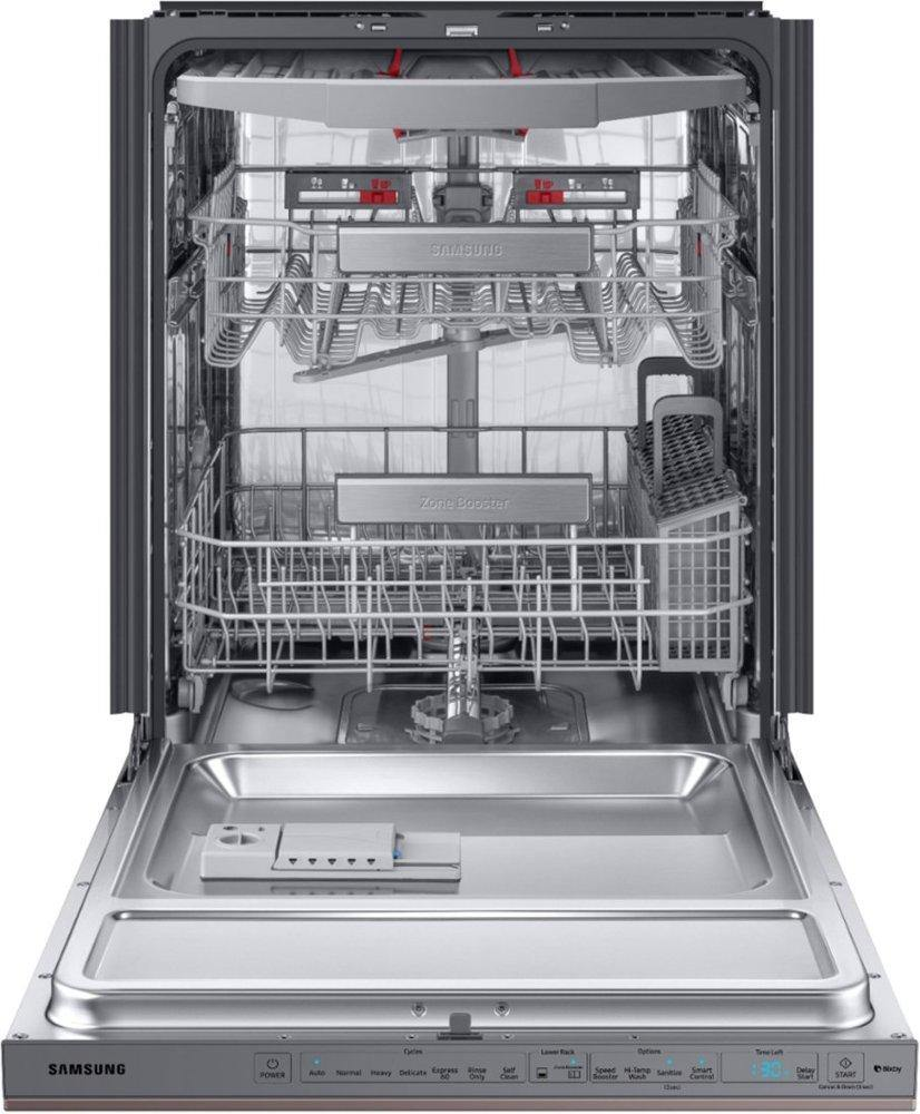 "Samsung Top-Control 24"" 39dBA Smart Dishwasher in Fingerprint-Resistant Tuscan Stainless Steel"