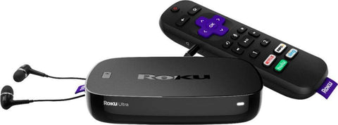 Roku Ultra 4K Streaming Media Player with JBL Headphones and Enhanced Voice Remote
