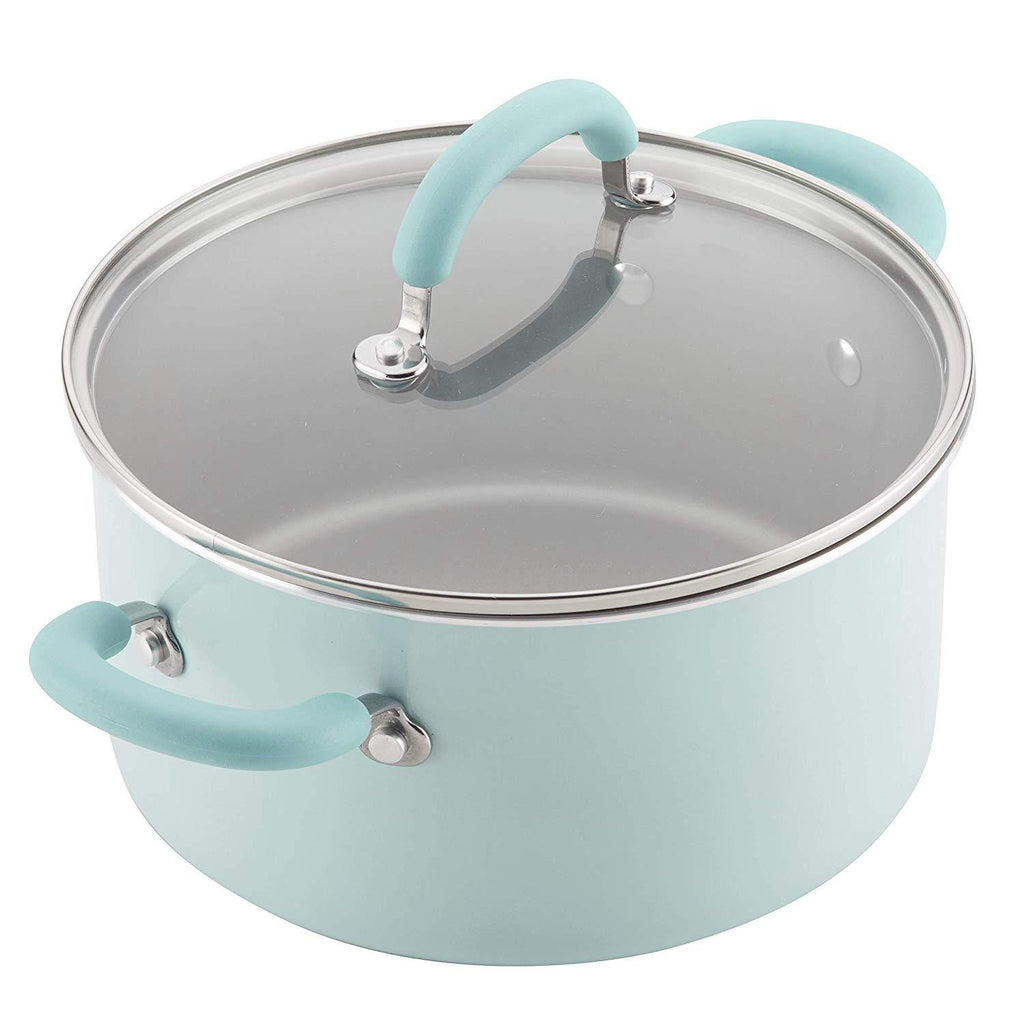 Rachael Ray® Enameled Aluminum 13-Piece Cookware Set in Light Blue Shimmer