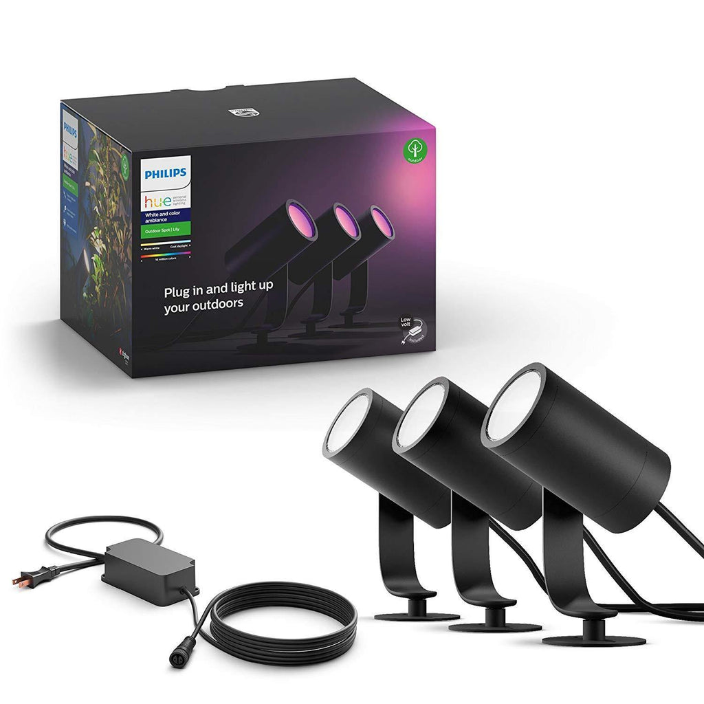 Philips Hue White & Color Ambiance Outdoor Spot - Lily Base Kit