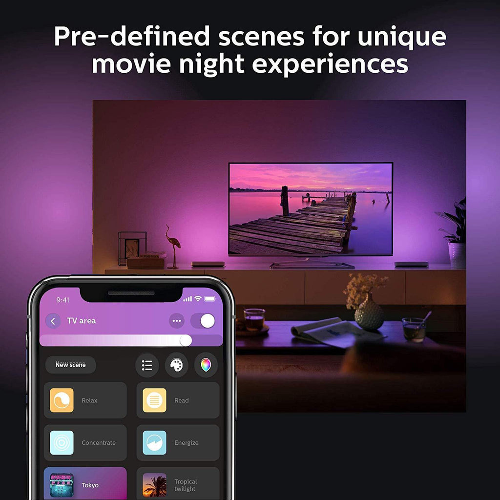 Philips Hue White and Color Ambiance Play Light Bar Extension Pack