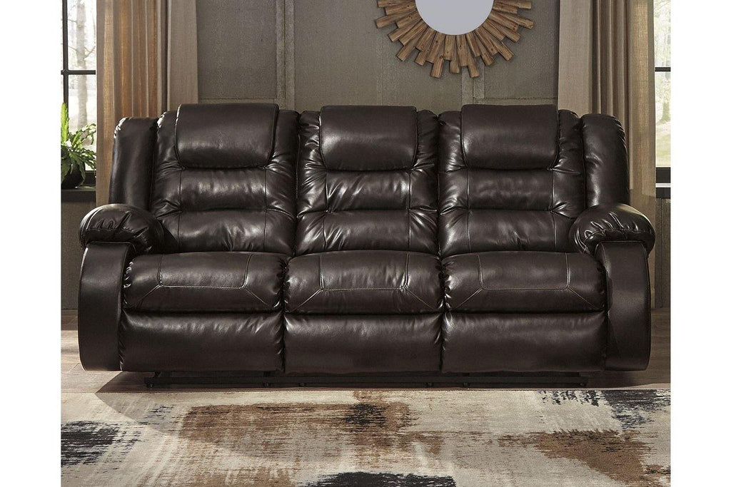 Ashley Vacherie Reclining Sofa and Double Reclining Loveseat in Chocolate