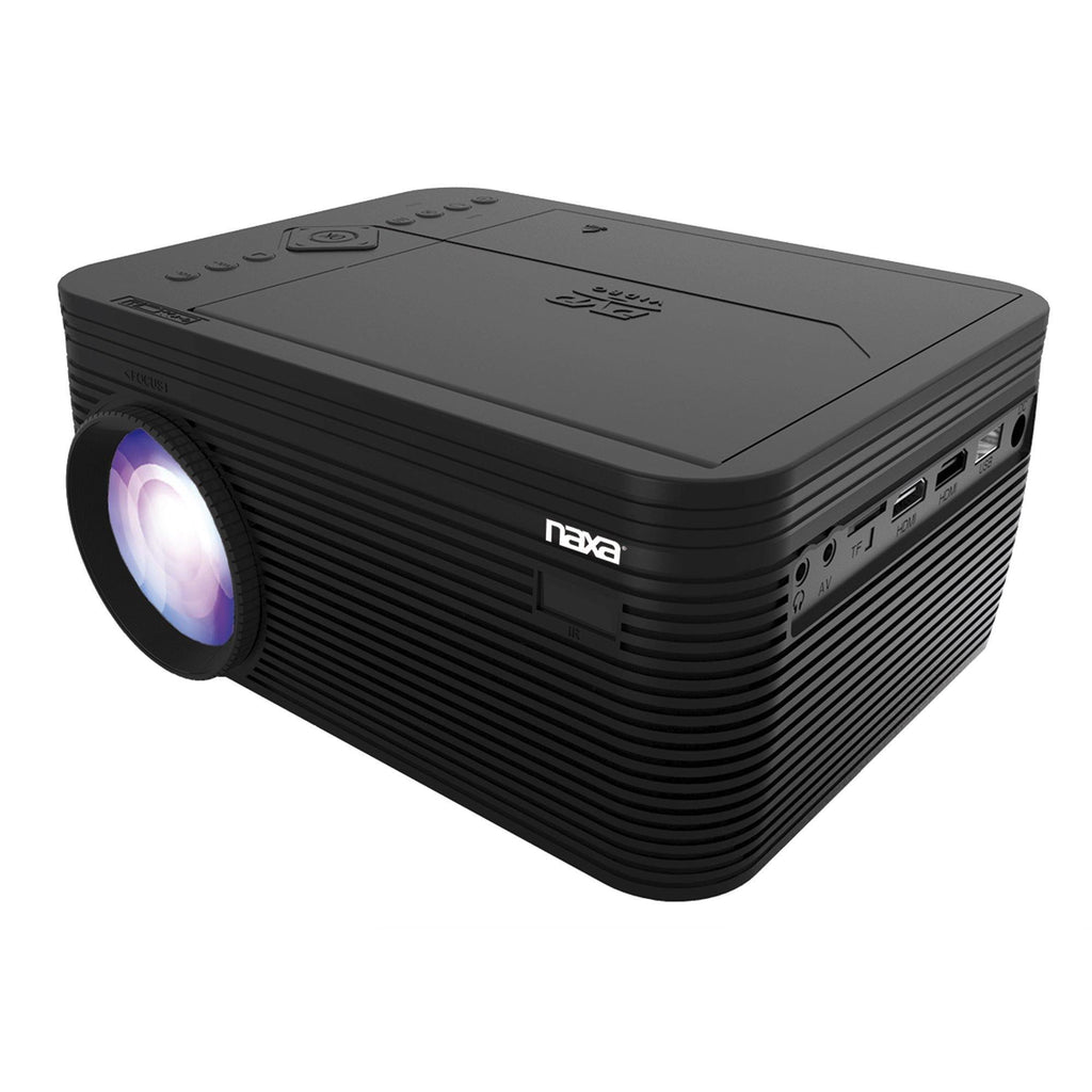 Naxa NVP-2500 150-Inch Home Theater 720p LCD Projector With Built-In DVD Player And Bluetooth