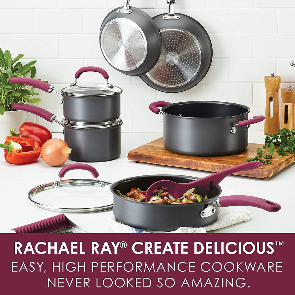 Rachel Ray 12 Piece Aluminum Cookware Set