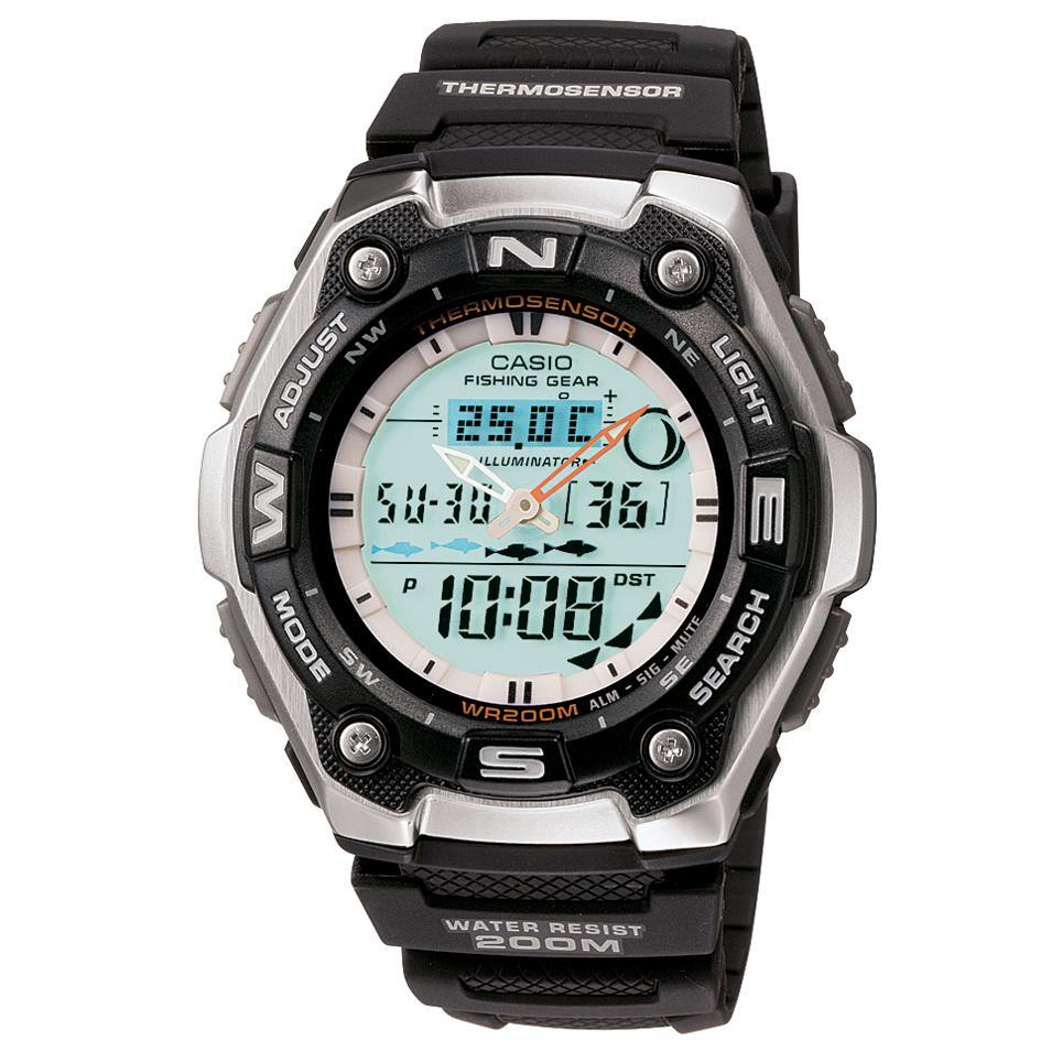 Sports Gear Watch with Fishing Mode and Moon Data