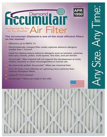 Accumulair Diamond 1-Inch Filter 4-Pack