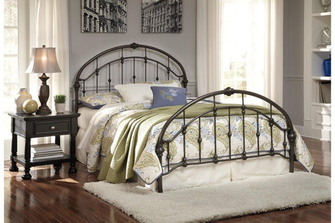 Ashley Nashburg Metal Bed in Bronze Finish