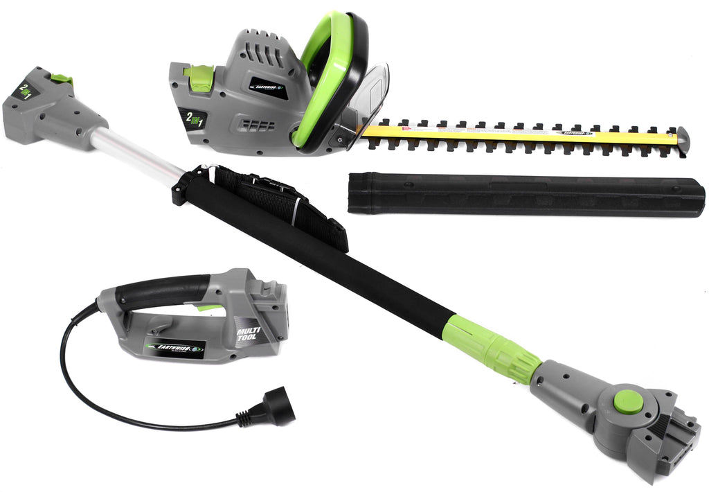 2-in-1 Convertible Pole Hedge Trimmer